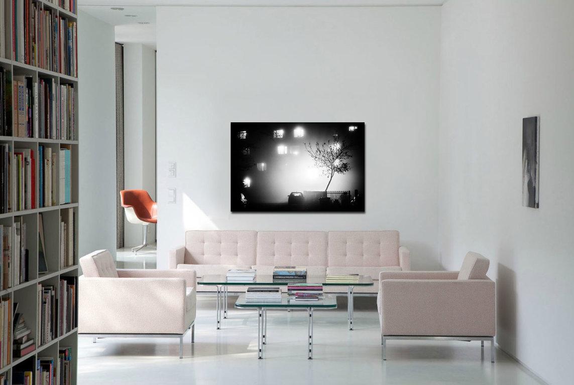 Nakts Rigā 90 x 60 cm Art Canvas