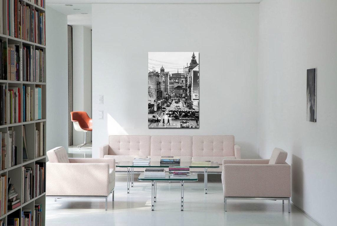 Dzīrnavu iela 90 x 60 Art Canvas
