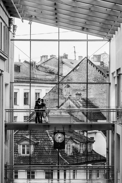 Rīgas logi 120 x 90  Art Canvas
